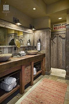 Delightful Manly Bathroom, Just Not The Saloon Doors | Manly Bathroom Makeover |  Pinterest | Doors, Barn Wood And Barn