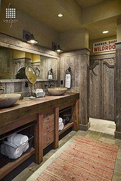 Manly bathroom