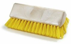 Carlisle Food Service Products Sparta® Floor Scrub Brush (Set of Color: Yellow Deck Brush, Wash Brush, Brush Set, Resin Uses, Cleaning Appliances, Wooden Tops, Carlisle, Mold And Mildew, Good Grips