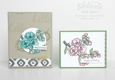 The Indescribable Gift stamp set and Blendabilities make the perfect pair! Paper Art, Paper Crafts, Alcohol Markers, Flower Cards, Stampin Up Cards, Stamping, Card Ideas, Birthday Cards, Card Making