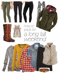how to pack for fall in one carry on bag perfect for a weekend away in the Georgia mountains