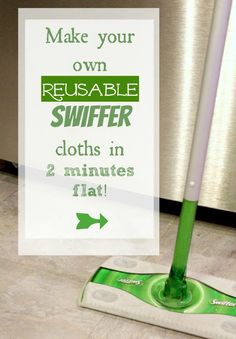 Learn how to make your own reusable Swiffer clothes in 2 minutes. Then finish up the job with Nature's Miracle!