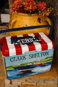 Custom Painted Cooler by BeechwoodDesign on Etsy, $280.00