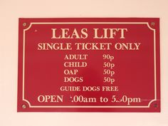 The Leas Lift Sign