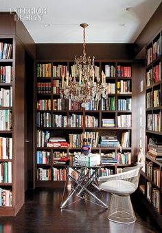 Interior Design Magazine-In_the_library_flooring_changes_to_the_wenge_shelving_is_oak_Photograph_by_Peter_Murdock_