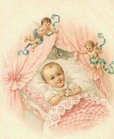#pink baby birth announcement