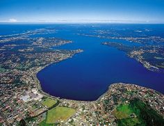 The largest coastal saltwater lake in Australia, with 174 km of foreshore - Lake Macquarie, NSW Visit Australia, Australia Travel, Australian Photography, Newcastle Nsw, North Coast, My Town, Great Barrier Reef, Weekend Trips, Aerial View
