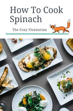 The Foxy Flexitarian's How To Cook Spinach Cooking Guide provides you with easy recipes, videos, inspiration, fabulous flavour combinations, and the best techniques for cooking spinach. Popular Recipes, Easy Recipes, Easy Meals, Plant Based Diet, Plant Based Recipes, Spinach Nutrition Facts, Eat Slowly, High Fiber Foods, Spinach Recipes