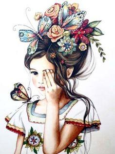 flower hair girl / claudia tremblay