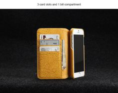 High Quality Italian Genuine Leather case for Iphone 6 DHL free shipping