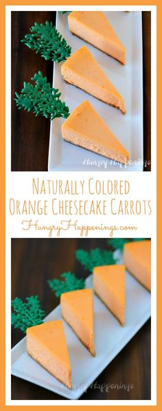 Whats a party without cheesecake? Get festive this Easter and make these Naturally Colored Orange Cheesecake Carrots! Watch out, the Easter bunny may be stealing all of this delicious dessert! Cupcakes, Cupcake Cakes, Easter Recipes, Holiday Recipes, Holiday Treats, Creamy Cheesecake Recipe, Cake Recipes, Dessert Recipes, Yummy Recipes