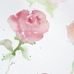 Paint with me! Learn how to create these watercolor roses, even if you're a beginner!