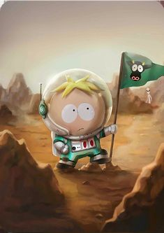 Astronaut Butters card in Phone Destroyer South Park, Animated Movie Posters, Nostalgia, Park Art, Art Drawings, Art Sketches, Street Art, Geek Stuff, Cartoons
