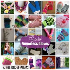 This roundup includes 25 free crochet patterns for fingerless gloves. Most of these gloves are for women, but some also include child and sizes.