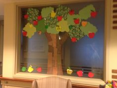 Fall Apple project. All residents got to create an apple for the tree!  #activities #recreationtherapy #montessori #recreation #LTC  #fall #ideas #MemoriesByNicole