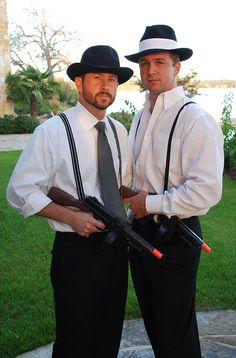 Leaving his Roaring 20's behind and Rolling into his 30's by lullabylubbock. Another idea, toy guns as party favors or photobooth props.