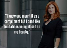 Quotes for Fun QUOTATION – Image : As the quote says – Description 15 Kickass Quotes By Donna Paulsen From Suits That Prove She Is One Hell Of A Woman Sharing is love, sharing is everything Suits Series, Suits Tv Shows, Tv Show Quotes, Movie Quotes, Funny Quotes, Qoutes, Donna Suits Quotes, Harvey Specter Quotes, Donna Paulsen