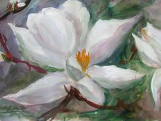 ORIGINAL Millie Gift Smith Realism Floral [Up to 30} Signed 2000-now Magnolia #Impressionism