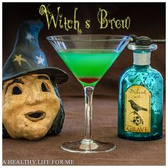 Witch's Brew Cocktail Recipe with Amy Stafford at www.ahealthylifeforme.com