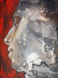 Modern abstract portraits of woman by Pascale Pratte -