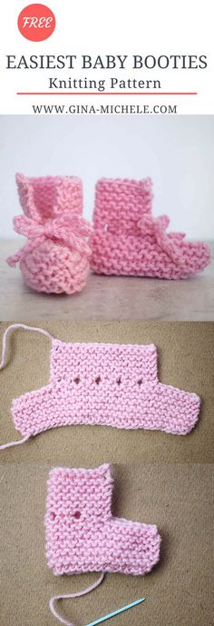 ) Baby Booties Knitting Pattern Super EASY (im Ernst!) Baby Booties Knitting Pattern This image has get. Baby Knitting Patterns, Baby Booties Knitting Pattern, Crochet Baby Booties, Crochet Slippers, Loom Knitting, Baby Patterns, Knit Crochet, Crochet Patterns, Easy Knitting