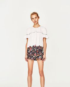 ZARA - WOMAN - TOP WITH MULTICOLOURED GEMS