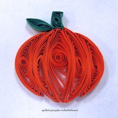 quilled pumpkins | Posted by Quilly Nilly at Saturday, October 22, 2011