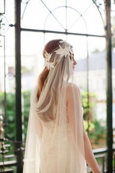 Ode to Scandinavia! The Jannie Baltzer 2016 Bridal Headpiece & Veil Collection see more at http://www.wantthatwedding.co.uk/2015/09/22/ode-to-scandinavia-the-jannie-baltzer-2016-bridal-headpiece-veil-collection/