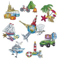 Magnets. Round the World Cross Stitch Kit