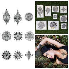Intricate Symetrical Henna Mandala Body Art Temporary by Tattify