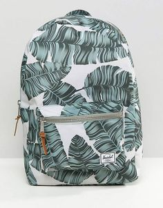 Herschel Supply Co Settlement Backpack in Palm Print. The palm print will never goes out of style and it makes everything cool so cool and tropical! Cute Backpacks For School, Cute School Bags, Trendy Backpacks, Girl Backpacks, Leather Backpacks, Herschel Backpack, Herschel Supply Co, Fashion Bags, Accessories