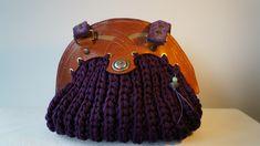 Items similar to Crochet bag on Etsy Thick Leather, Brown Leather, Purple Handbags, Unique Crochet, Crochet Designs, Tote Bag, Purses, Casual, Etsy Shop