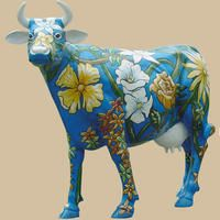 Flower Cow, life size cow, cow replica, cow statue