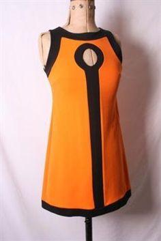 Vintage Pop Art Mini Dresses 1960s Monochrome