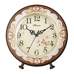HENSE Victorian Garden Living Room Decorative Desk Clocks Silent Non tick Sweep Second Wooden Table Clock HD10 (Brown)  #Brown+ #Clock #clocks #Decorative #Desk #garden #HD10 #HENSE #Living #Room #RusticMantelClock #Second #Silent #Sweep #Table #tick #Victorian #Wooden The Rustic Clock
