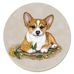 CounterArt Welsh Corgi Absorbent Coasters, Set of 4 by Counter Art. $13.68. Holders available; look for counterart wood coaster holds ( sold separately). Coasters are natural stoneware with decorative transfer print. Each coaster has a durable cork backing to protect countertops and furniture. To remove stains, soak coaster in 1 part household bleach and 3 parts water until stain lifts, then rinse and air dry. Set of 4 absorbent coasters with attractive design marries art...