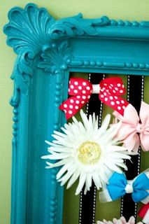 ribbon holder- made this for Sky's room but didn't think of taking the back off it great idea!