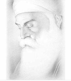 Guru Nanak Ji, Nanak Dev Ji, Guru Nanak Photo, Spiritual Photos, Religious Photos, Guru Tegh Bahadur, Guru Nanak Wallpaper, Pencil Sketch Portrait, Guru Nanak Jayanti