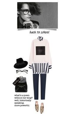 """""""Back to school"""" by iriadna ❤ liked on Polyvore featuring Balenciaga, Gucci, Chloé, Various Projects, Mademoiselle Slassi, Marques'Almeida, Alexander Wang, BackToSchool, casualoutfit and Sweatshirt"""