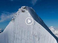 Dove è lo sciatore? L'impressionante discesa lungo la parete verticale.  L'impresa di Jeremie Heitz sulle Alpi in Svizzera.Video Red Bull