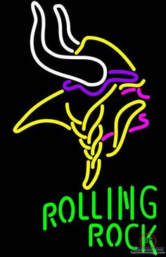 Rolling Rock Minnesota Vikings Neon Sign NFL Teams Neon Light