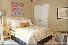 We love how much personality this guest bedroom has!