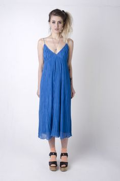 That 70's Showstopping Dress! This Vintage John Bates Dress is perfect for showing off in! Don't Miss Out! http://www.nordicpoetry.co.uk/vintage-1970-s-aqua-blue-jean-varon-dress