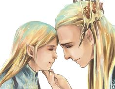 Legolas & Thranduil. Father and Son. Words cannot describe how much I love this picture.