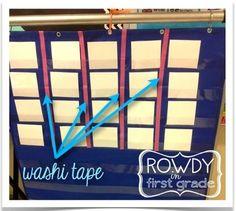 Washi Tape on Pocket Charts