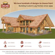 We'll deal with you directly to discuss all aspects of your log home, from the initial plans, the choice of wood and its benefits, to the construction through to the actual installation on site.  If you can't see what you are looking for, please let us know and we can help you custom design it! 1-604-703-3452  #loghomes #loghomelife #customloghomes #loghomeliving #postandbeam #handcraftedloghomes #loghomedesign #loghomefloorplans #floorplans #canadianbuiltloghomes #westernredcedarloghomes Log Home Living, Log Home Floor Plans, Log Home Designs, Timber House, Post And Beam, Western Red Cedar, Log Homes, Building Design, Custom Homes