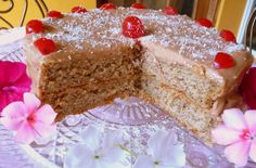 Almond Vanilla Layer Cake with Caramel Frosting - Low-Carb and gluten-free.  Visit us at Low-Carbing Among Friends: https://www.facebook.com/LowCarbingAmongFriends