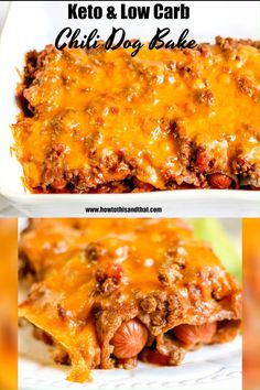Healthy Low Carb Recipes, Low Carb Dinner Recipes, Keto Dinner, Low Carb Keto, Keto Recipes, Chilli Dog Bake, Chilli Dog Casserole, Baked Chili Dogs, Keto Casserole