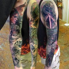 full-sleeve-star-wars-tattoo