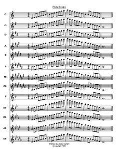 Escalas para flauta.